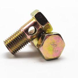液压碳钢中空班卓琴带孔螺栓14MM六角头螺丝和螺栓