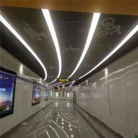 地铁站彩绘包柱铝单板 吊顶造型彩绘铝单板