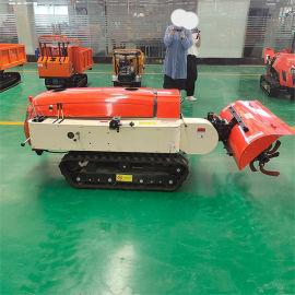 多功能果园遥控式开沟施肥机 遥控履带田园管理机
