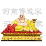 1.3米天冠弥勒菩萨 大肚弥勒佛像 河南佛道家神像