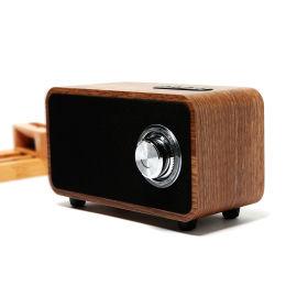 熊兴无线蓝牙小音箱木质礼品音响便携插卡手机低音炮