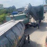 濮陽集裝箱運輸粉煤灰翻箱卸料機碼頭翻櫃倒灰機
