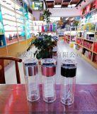 西安保溫杯雙層玻璃杯 免費刻字水杯定制