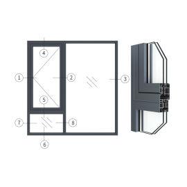 广东兴发铝材创高AL50W14A系列外平开窗