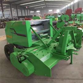 行走式粉碎玉米秸秆打捆机,苞米杆粉碎打包机厂家
