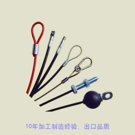 供应**涂塑钢丝绳索具,**耐磨钢丝绳吊具