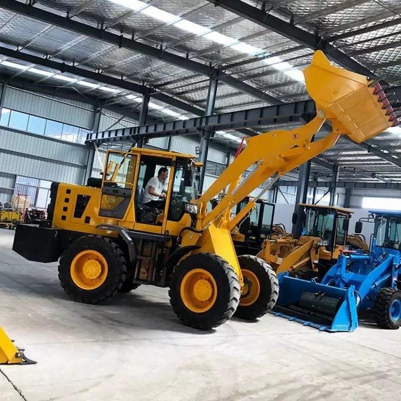 工程农用电启动小型装载机 养殖场小铲车 厂家直销