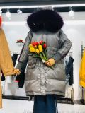 品牌女裝索扣專業羽絨服貨源供應專賣店貨源庫存折扣伊曼服飾