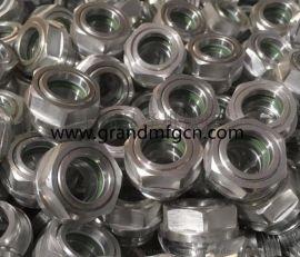 空气压缩机铝油镜旋拧式高品质铝油镜油窗油位器