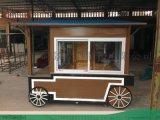 广州砵仔糕定制实木售货车-小型可移动手推售卖车