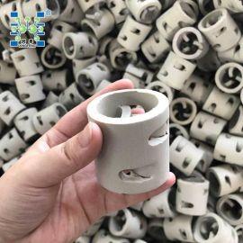 厂家现货供应50*50mm陶瓷鲍尔环填料 陶瓷散堆