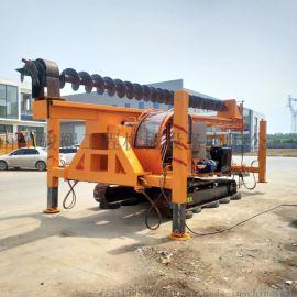 22米长螺旋打桩机 履带式地基打桩机