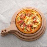 櫸木質披薩西餐托盤圓形