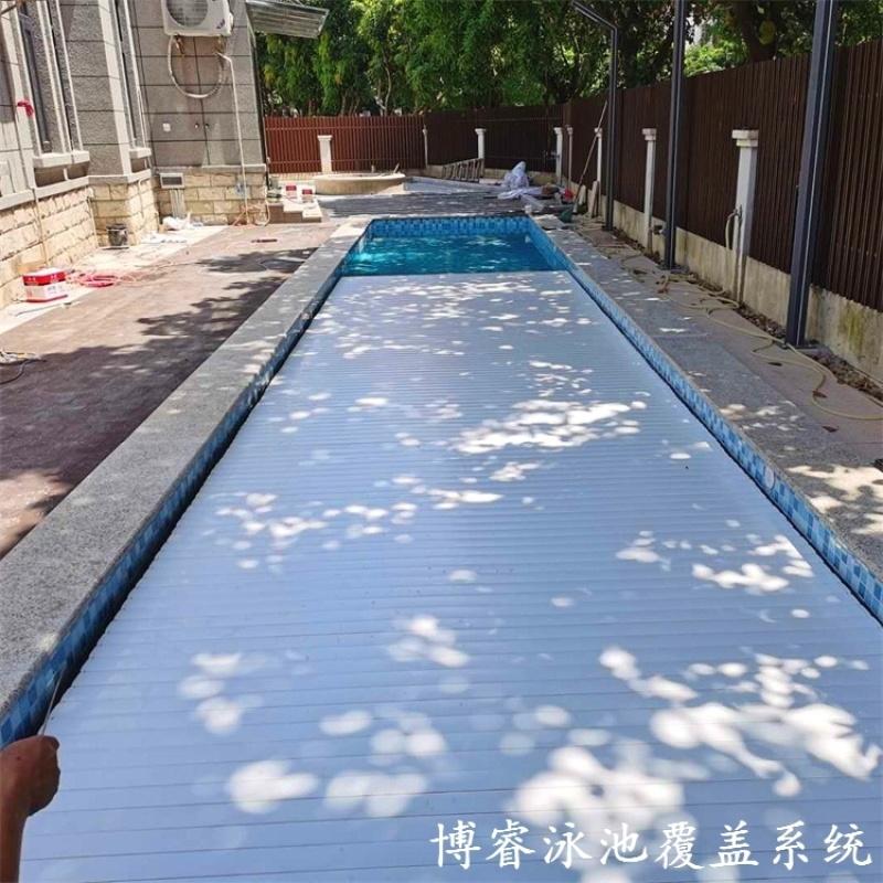 電動游泳池蓋 游泳池蓋  泳池保溫安全蓋