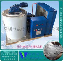 温州酒店厨房设备配套日产1000公斤不锈钢冰片制冰机