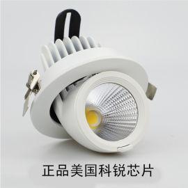 led射灯 COB象鼻灯 三色变光射灯