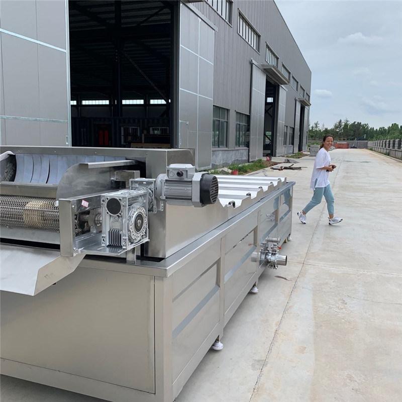 玉米漂烫生产线 全自动蒸汽漂烫预煮机