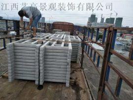 T型纺原木水泥栏杆,福建订购仿木栏杆注意事项