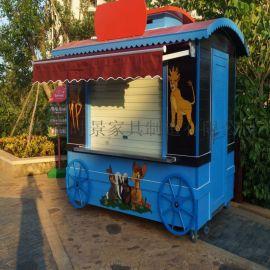 游乐园卡通主题售卖亭