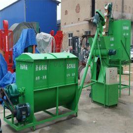 隆昌县成套饲料机组 羊饲料搅拌机组生产厂家
