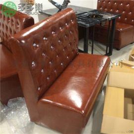 时尚餐玖氛围 餐厅桌椅卡座组合定制