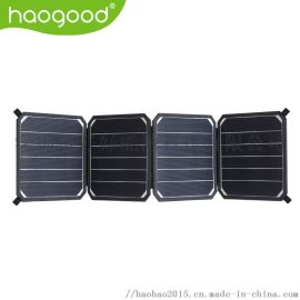 haogood 14W轻便折叠太阳能手机充电器