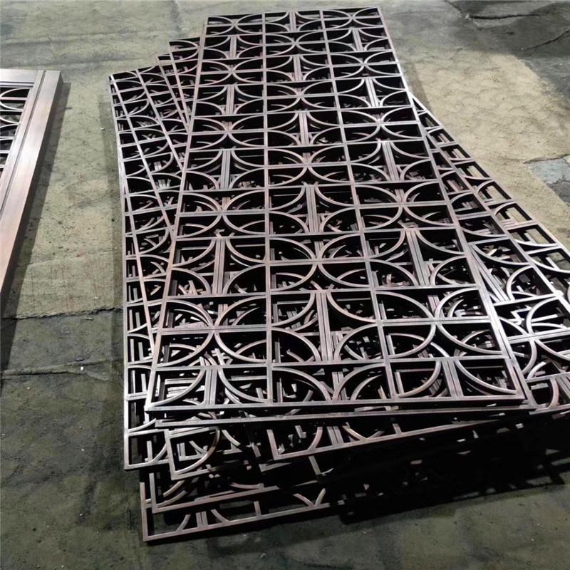 鋁屏風格柵造型隔斷廠家 金屬鋁屏風廠家定製