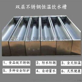 双层不锈钢牛场饮水槽 电加热饮水槽 恒温饮水器槽