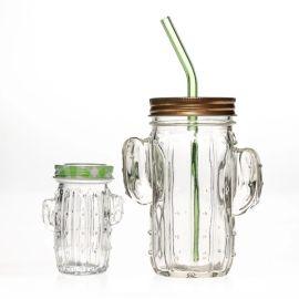80ml仙人掌玻璃杯吸管玻璃杯