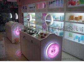 厂家直接生产成都化妆品展柜-展示柜-货柜展示架