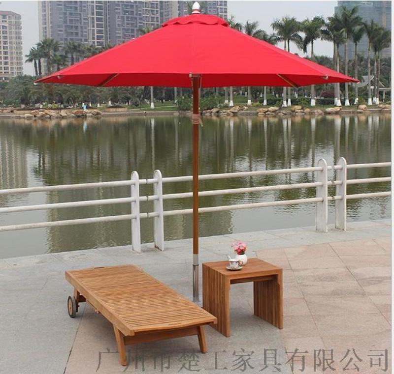 酒店露天游泳池柚木躺椅,多功能实木躺椅