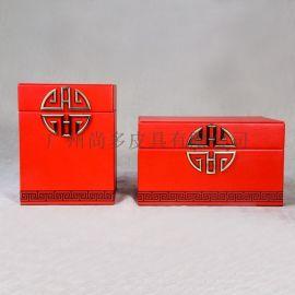 新中式古风首饰盒极简饰品收纳盒摆件中国风家居饰品