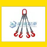 四肢钢丝绳成套索具,自重轻强度高,不易骤然整根折断