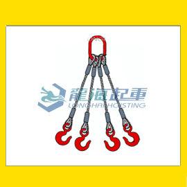 四肢钢丝绳成套索具, 自重轻强度高, 不易骤然整根折断