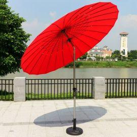 户外遮阳伞直杆沙滩伞防紫外线铝杆中柱太阳伞折叠