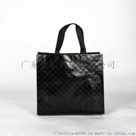 无纺布手提束口覆膜袋定做现货子制包装袋