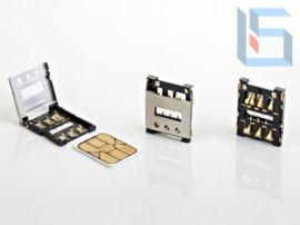 原装SIM卡座 8P镀金 抽拉式手机插拔