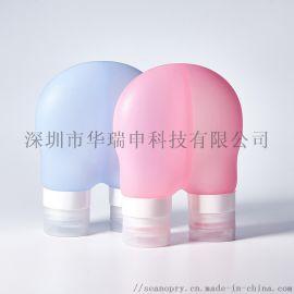 二合一双色硅胶双拼易便携高密封性分装瓶