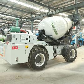 3方自上料搅拌车 岳工机械 全自动水泥搅拌车