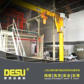 1T立柱式悬臂吊 360度旋转电动悬臂吊