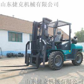 捷克4.5吨叉车济宁5吨越野叉车 山地柴油搬运货叉