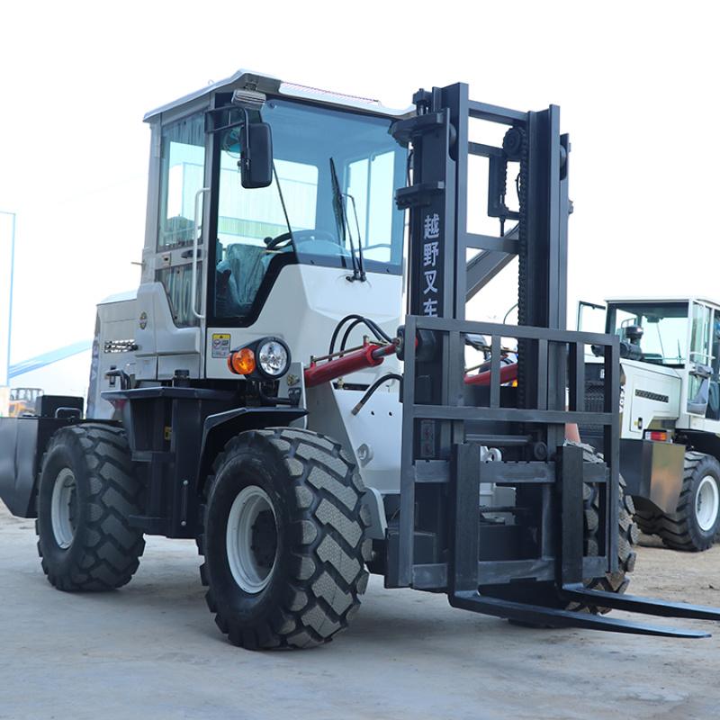 四驱越野叉车厂家 3.5吨柴油叉车 可改装