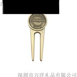 廠家定制金屬高爾夫球叉俱樂部通用款果嶺叉家用型球叉