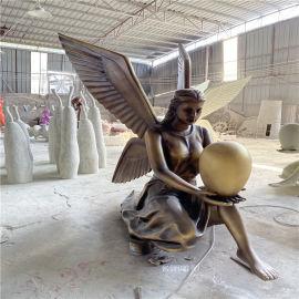人物玻璃钢雕塑 欧式女神雕塑花园玻璃钢仿铜人物雕塑