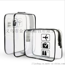 定制洗浴用品旅行化妆包 透明pvc洗漱包