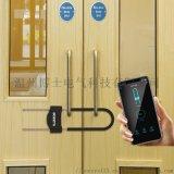 指纹玻璃门锁U型智能锁加粗双门推拉门商铺U形锁U3