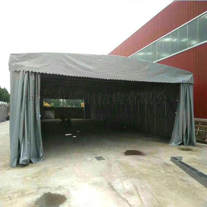 洛阳吉利区伸缩式遮阳棚大排档活动雨蓬电动伸缩推拉篷厂家直营