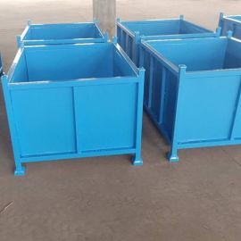 上海铁箱可堆式周转箱固定式钢制堆垛料箱冲压件包装箱