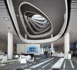 供应浙江图书馆吊顶铝方通白色常规铝方通格栅
