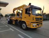 陕汽带吊道路拖车 带8吨吊机救援车